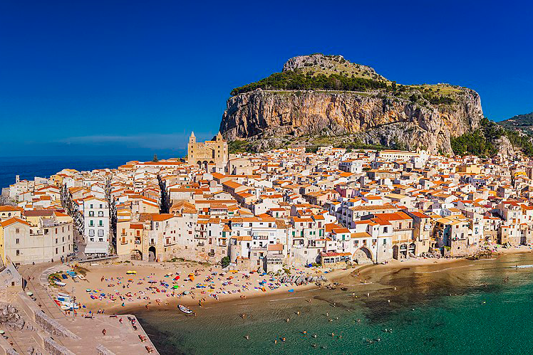 View of Cefalù form the sea