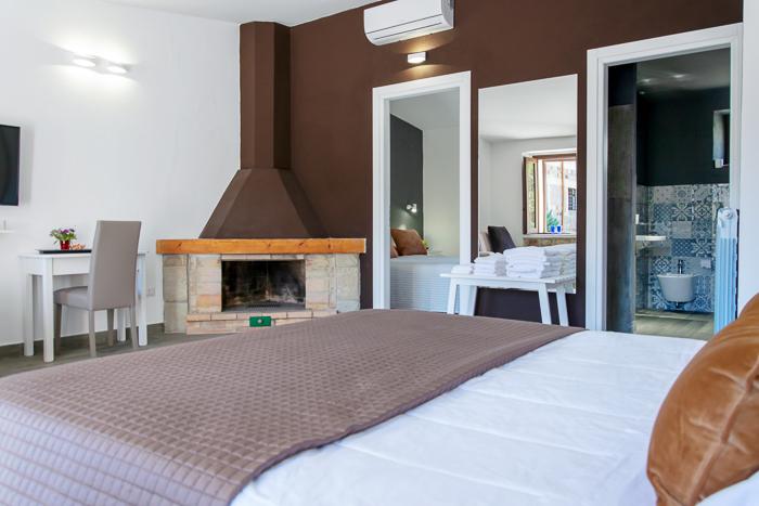 suite letto e camino